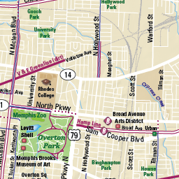 Memphis Bike Map