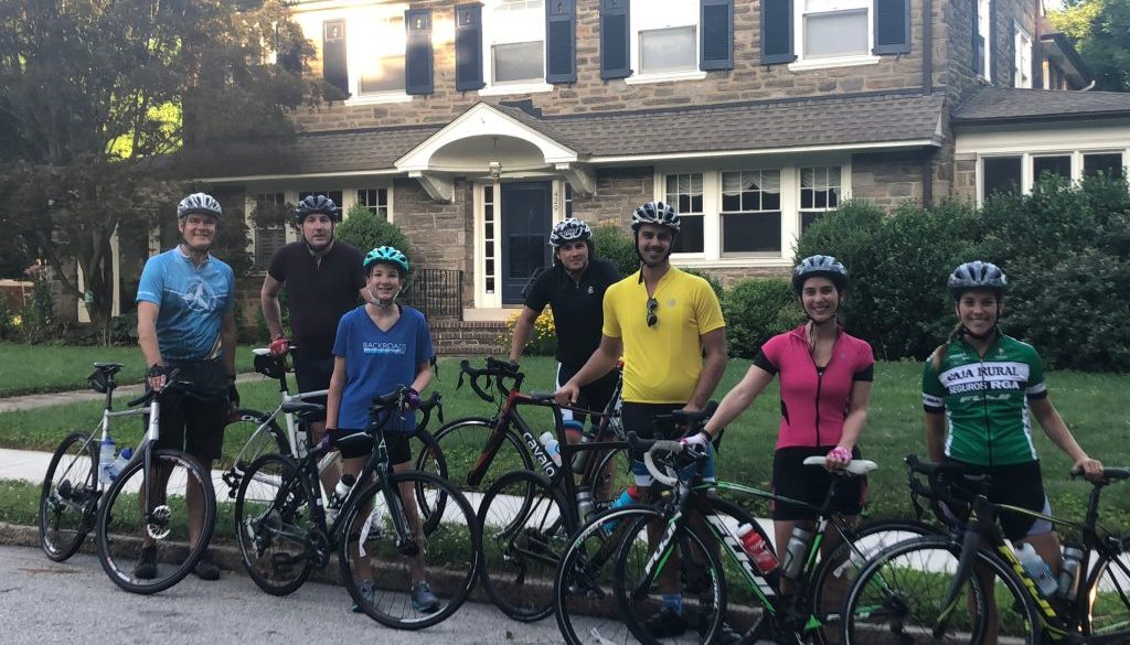 Cape May Cyclists in Jenkintown