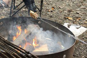 Toasting smores