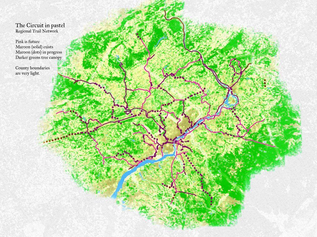 pastel Circuit Trail Map